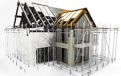 Rohbau und Umbau von Häusern durch die Vosshans Baugesellschaft.