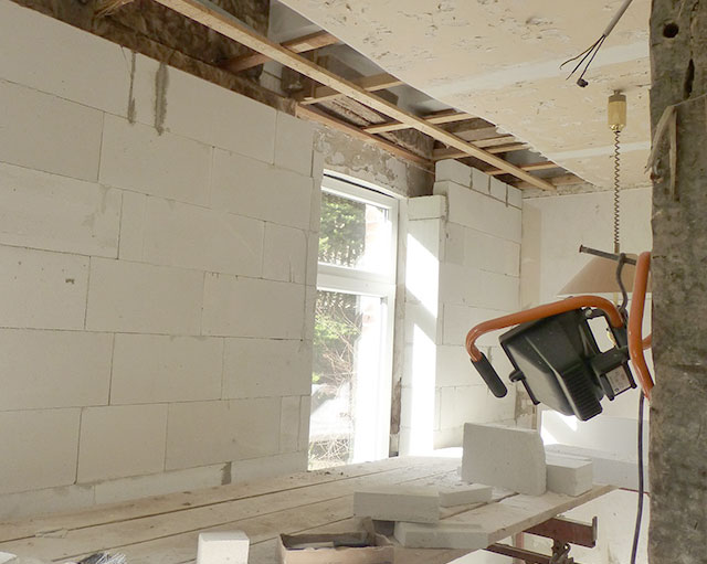 Innenausbau und Umbau von einem Haus